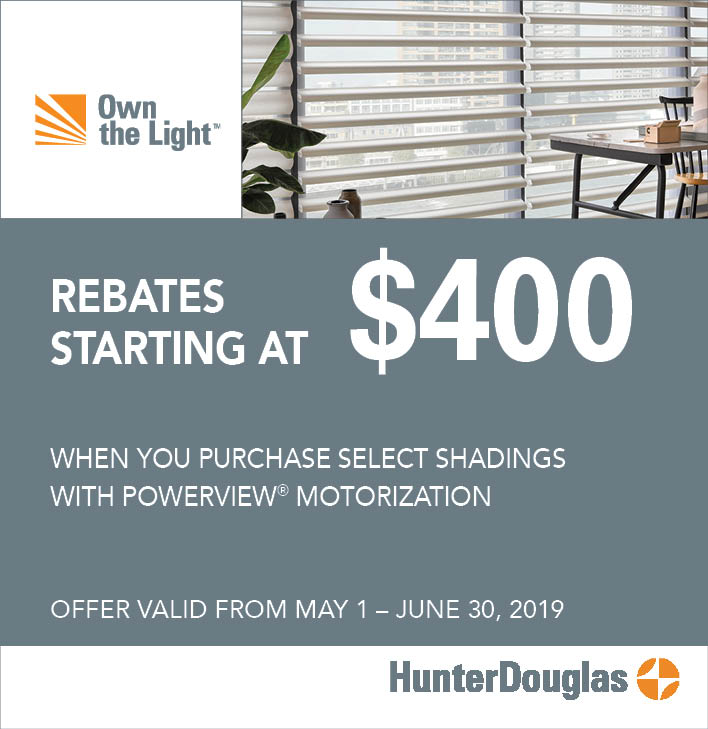 Check Rebate Status >> Hunter Douglas Promotions Status